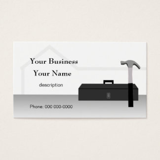 Construction Handyman Home Repair Roof Card