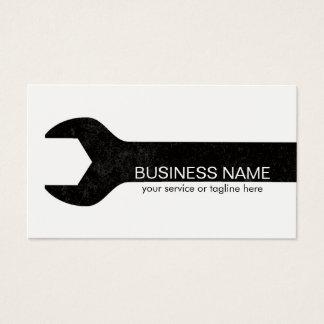 Construction Handyman Maintenance & Repair Minimal Business Card