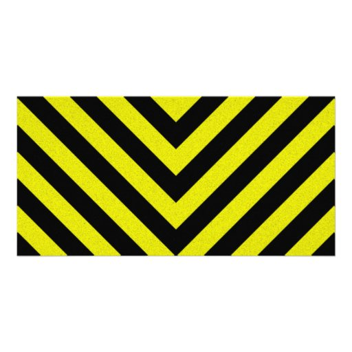 Construction Hazard Stripes Photo Greeting Card