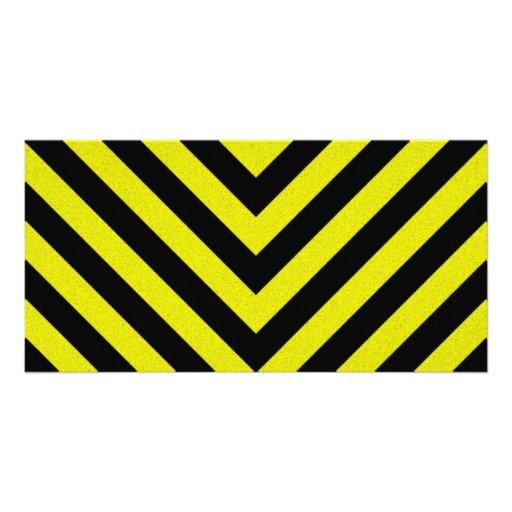 Construction Hazard Stripes Photo Greeting Card