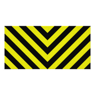 Construction Hazard Stripes Picture Card