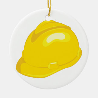 Construction Helmet Ceramic Ornament
