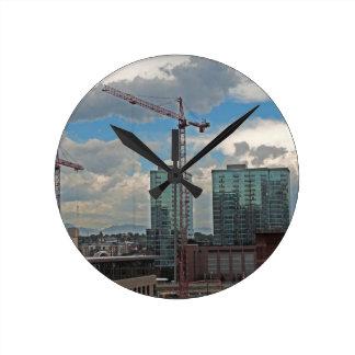 Construction in Downtown Denver Colorado Clocks