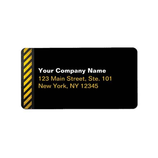 Construction Label