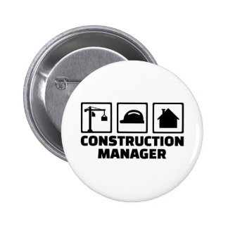 Construction manager 2 inch round button