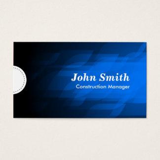 Construction Manager - Modern Dark Blue Business Card