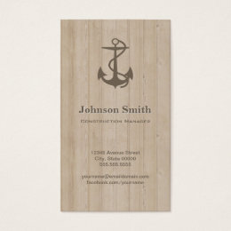 Project manager business cards business card printing zazzle ca construction manager nautical anchor wood business card reheart Choice Image