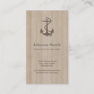 Concrete business cards profile cards zazzle ca construction manager nautical anchor wood business card reheart Image collections