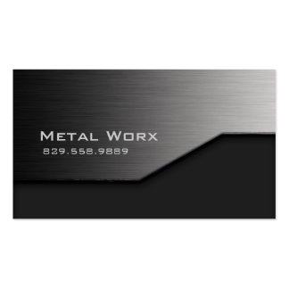 Construction Metal Business Card Angle Edge Gray