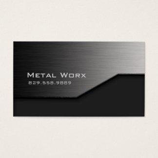 Construction Metal Business Card Angle Edge Gray
