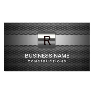Construction Metal & Steel Monogram Pack Of Standard Business Cards