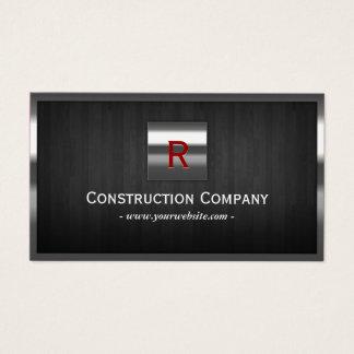 Construction Metal & Wood Monogram Professional Business Card