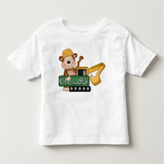 Construction Monkey cartoon toddler t-shirt