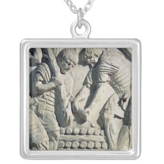 Construction of fortifications during campaign silver plated necklace