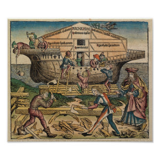 Construction of the Ark  1493 - Poster