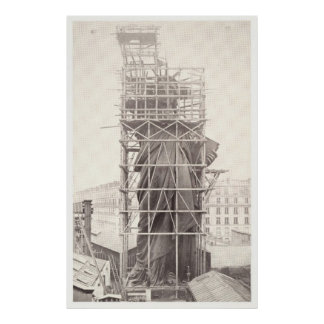 Construction of The Statue of Liberty Poster