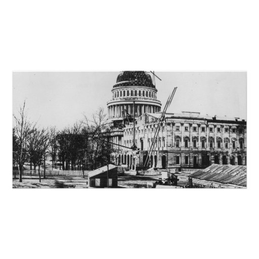 Construction of the U.S. Capitol Dome Photo Greeting Card