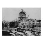 Construction of the U.S. Capitol Dome Poster