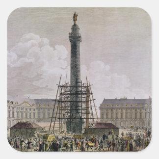 Construction of the Vendome Column in 1803-10 Square Sticker
