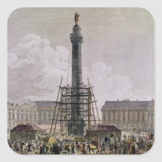 Construction of the Vendome Column in 1803-10 Stickers