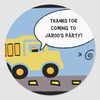 Construction Party Gift Bag Sticker
