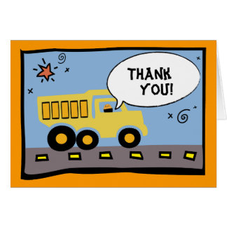 Construction Party Thank-You Note Card