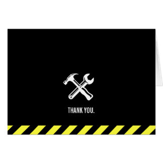 Construction Project Custom Thank You Card