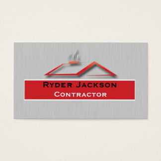 Construction Roofing Business Card Template