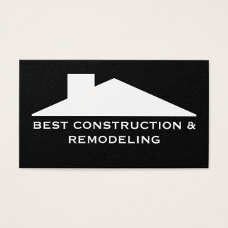 Construction Service Business Business Card