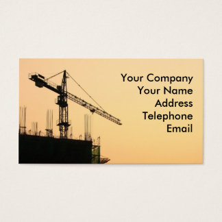 Construction Site at Sunset Business Card