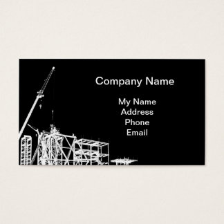 Construction Site with Crane Business Card