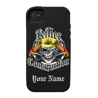 Construction Skull: Killer Construction iPhone 4 Covers