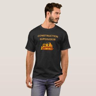 Construction Supervisor, Earthmover Novelty Tshirt