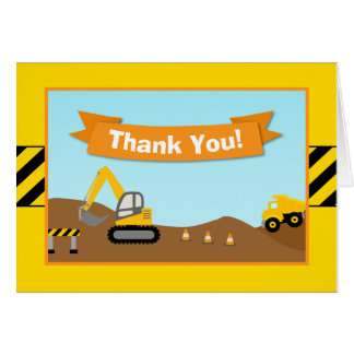Construction Thank You Card Folded Note Card
