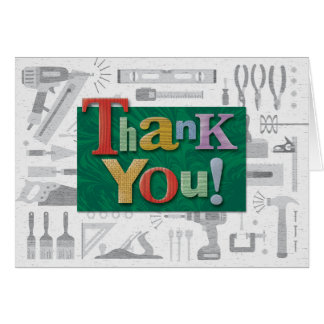 "Construction ""Thank You"" Note Card"