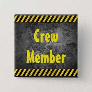 Construction theme 2 inch square button