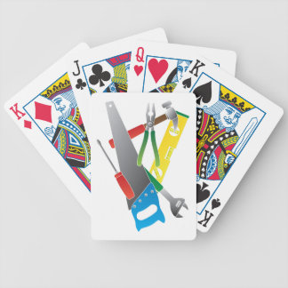 Construction Tools Colors Illustration Bicycle Playing Cards
