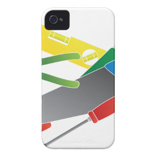 Construction Tools Colors Illustration iPhone 4 Cases