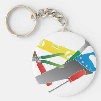 Construction Tools Colors Illustration Keychain