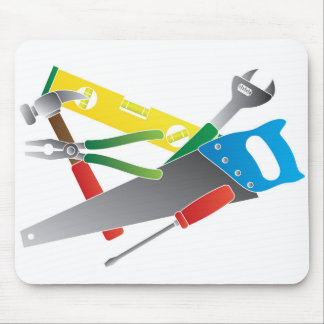 Construction Tools Colors Illustration Mouse Pad