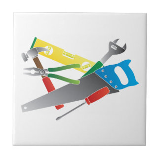 Construction Tools Colors Illustration Tile