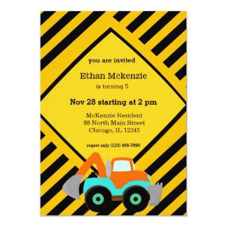 "Construction Truck 5"" X 7"" Invitation Card"