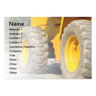 construction vehicle pack of chubby business cards