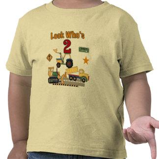 Construction Vehicles 2nd Birthday Tee Shirts