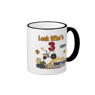Construction Vehicles 3rd Birthday Tshirts Coffee Mug