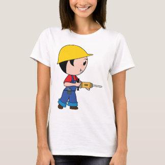 Construction Worker Jackhammer Helmet Building T-Shirt