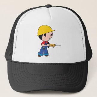Construction Worker Jackhammer Helmet Building Trucker Hat