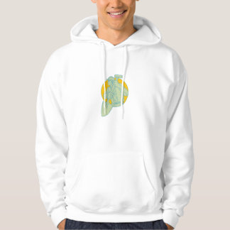 Construction Worker Shovel Circle Drawing Hoodie