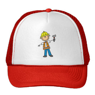 Construction Worker with Hammer Hat
