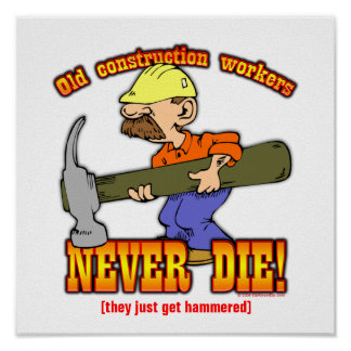 Construction Workers Poster
